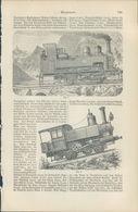 KD3236 - Stich Druck - 1901 - Bergbahnen Zahnradbahn - Prints & Engravings