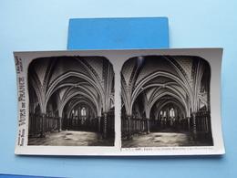 PARIS : La Sainte Chapelle - La Chapelle Bas : S. 7 - 2987 ( Maison De La Bonne Presse VUES De FRANCE ) Stereo Photo ! - Photos Stéréoscopiques