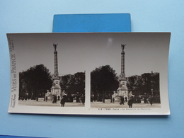 PARIS : La Fontaine Du Chatelet : S. 4 - 3248 ( Maison De La Bonne Presse VUES De FRANCE ) Stereo Photo ! - Photos Stéréoscopiques