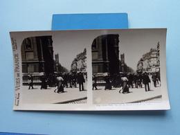 PARIS : La Rue De Rivoli à L'Hôtel De Ville : S. 9 - 3246 ( Maison De La Bonne Presse VUES De FRANCE ) Stereo Photo ! - Photos Stéréoscopiques