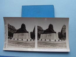 PARIS : Le Lion De Belfort : S. 9 - 3233 ( Maison De La Bonne Presse VUES De FRANCE ) Stereo Photo ! - Photos Stéréoscopiques