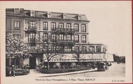 CPA Nancy Hôtel Brasserie Des Deux Hémisphères Cafe Meurthe Et Moselle - Nancy