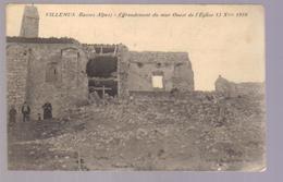 Cpa Du 04- VILLEMUS-Effrondrement Du Mur Ouest De L'église Le 13 Octobre 1910 - Francia