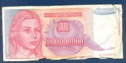 1000000000 Dinara Yugoslavia 1993 - Jugoslavia