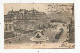 Cp,  26 , VALENCE , Panorama De La Place De La République, Dos Simple , Voyagée 1903 , Train , Chemin De Fer - Valence