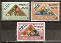 Trinidad & Tobago 1981 Pollution Marine Preservation Set Complete MNH ** - Trinité & Tobago (1962-...)