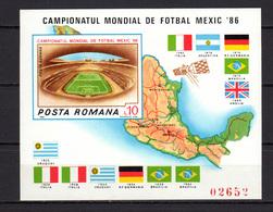 Romania 1986 Football Soccer World Cup, Space S/s Imperf. MNH - Fußball-Weltmeisterschaft