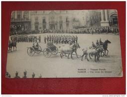 MILITARIA - NAMUR - GUERRE 1914-1918  - Une Revue Des Troupes Allemandes  - Truppen Parade  -  (2 Scans) - Belgique
