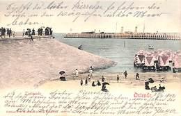 Ostende - L'Estacade (Edit. V G, Colorisée 1902, Vers Mersch) - Oostende