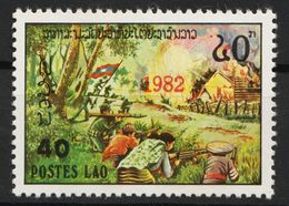 Laos 611 Overprint 1982 Red Postfrisch - Laos