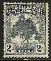 Gilbert & Ellice Islands - 1911 Pandanus Tree 2d Used    SG 10  Sc 10 - Gilbert & Ellice Islands (...-1979)