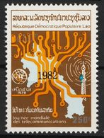 Laos 617 Overprint 1982 Black Postfrisch - Laos