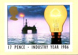 GRANDE-BRETAGNE. N°1210 De 1986 Sur Carte Premier Jour. Pétrole/Electricité. - Oil