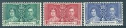 CAYMAN ISLANDS - MNH/**. - 1937 - CORONATION - Yv 101-103 -  Lot 18396 - Kaimaninseln