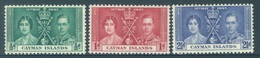 CAYMAN ISLANDS - MNH/**. - 1937 - CORONATION - Yv 101-103 -  Lot 18396 - Iles Caïmans