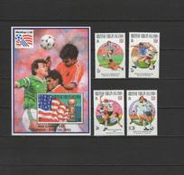 British Virgin Islands 1994 Football Soccer World Cup Set Of 4 + S/s MNH - World Cup