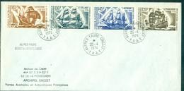 TAAF  PA 30 / 33 Bateaux Oblitéré  Crozet Du 20.4.1974 (tp Cote:26.50  €)  TB - Terres Australes Et Antarctiques Françaises (TAAF)
