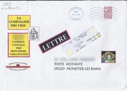 MARIANNE DE LAMOUCHE N° 3969 + VIGNETTE SUR LETTRE DE 2006 POUR POSTE RESTANTE - 2004-08 Marianne De Lamouche