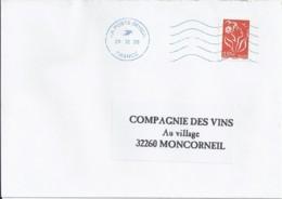 MARIANNE DE LAMOUCHE N°4297 SUR LETTRE DU 31.12.08/DERNIER JOUR TARIF - 2004-08 Marianna Di Lamouche