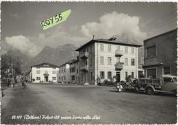 Veneto-belluno-polpet Frazione Di Ponte Nelle Alpi Veduta Panoramica Via Di Polpet Case Vespa Furgone Bar Anni 50 - Italia