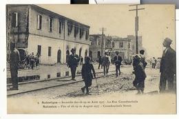 Turquie , Salonique , Incendie Des 18 19 20 Aout 1917 , La Rue Coundouriotis - Turkey