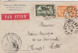 Maroc Lettre Pour La France 1926 - Maroc (1891-1956)