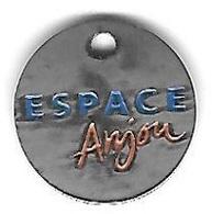 Jeton De Caddie  Argenté  Ville, Centre  Commercial  ESPACE  Anjou  à  ANGERS  ( 49 ) Voir  Description - Jetons De Caddies