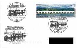 SPAIN. POSTMARK MAZA BRIDGE. SAN VICENTE DE LA BARQUERA. 2018 - Marcofilia - EMA ( Maquina De Huellas A Franquear)