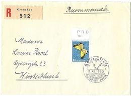 Schweiz Suisse 1950: Zu PJ137 Mi 554 Yv 506 Auf R-Brief Mit O TAG DER BRIEFMARKE 3.XII.1950 GRENCHEN (Zu CHF 32.00) - Tag Der Briefmarke
