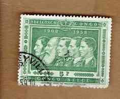 Congo Belge.(COB-OBP)  1958 - N°347    *CINQUANTENAIRE DU CONGO BELGE*     5F   Oblitéré - 1947-60: Oblitérés
