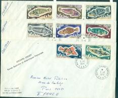 TAAF  N° 34/38 +43/45 Sur 3 Plis Du 1.1.1974 Alfred Faure Crozet ( Séries Poissons ) Tp Cote : 32.40 €  TB - Terres Australes Et Antarctiques Françaises (TAAF)