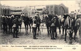 Thématiques 2018 Commémoration Fin De Guerre 1914 1918 Cavaliers Anglais Venant De Débarquer En France - Guerre 1914-18