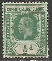 Gilbert & Ellice Islands - 1912 King George V 1/2d MNH **    SG 17 - Gilbert & Ellice Islands (...-1979)