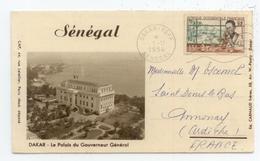 CARTE LETTRE 1954 SENEGAL DAKAR PALAIS DU GOUVERNEUR MARCOPHILIE BE TBE - Senegal