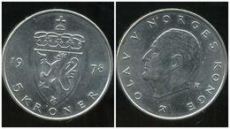 NORVEGE 5 Kroner 1978 - Norvège
