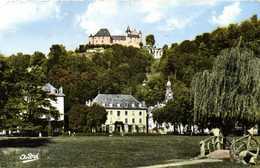 Cpsm Petit Format URIAGE LES BAINS  L'Atablissement Thermal Et Le Chateau Du Parc Colorisée RV - Uriage