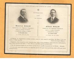FAIRE PART AVIS DECES MILITAIRE POILU SOLDAT CAPORAL 162 166 RI INFANTERIE  ROLIN PIERREPONT MARCHEVILLE WWI  1914 1915 - Documents