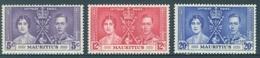 MAURITIUS - MNH/**. - 1937 - CORONATION - Yv 198-200 -  Lot 18400 - Maurice (...-1967)