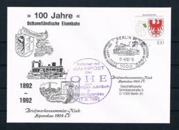 BRD 1992 Sonderbriefumschlag Motiv Eisenbahn - [7] República Federal