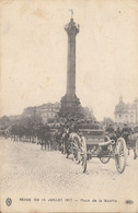 Thématiques 2018 Commémoration Fin De Guerre 1914 1918 Canon Place De La Bastille Revue Du 14 Juillet Défilé - Guerre 1914-18