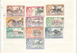 Polonia PO 1954 10 Ann.Polonia Pop.Scene  Scott.647/656+See Scan On Schaubek Page; - 1944-.... República