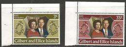Gilbert & Ellice Islands - 1972 Royal Silver Wedding MNH **    SG 211-2 - Gilbert & Ellice Islands (...-1979)