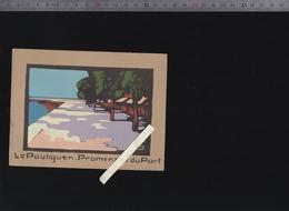 Le Pouliguen 44 - Promenade Du Port - Circa1950 Sur Canson (j'ignore La Technique De Reproduction) - Vieux Papiers