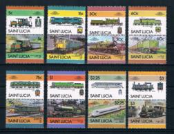 St. Lucia 1986 Eisenbahn Mi.Nr. 814/29 Kpl. Satz ** - St.Lucia (1979-...)