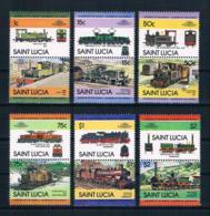 St. Lucia 1984 Eisenbahn Mi.Nr. 672/83 Kpl. Satz ** - St.Lucia (1979-...)