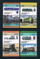 St. Vincent/Grenadinen 1985 Eisenbahn Mi.Nr. 427/34 Kpl. Satz ** - St.Vincent & Grenadines