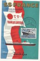 76  Voyage Inaugural 3 Fevrier 1962 Compagnie Générale Transatlantique French Line - Paquebots