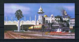 Malaysia 1985 Eisenbahn Block 3 ** - Malaysia (1964-...)