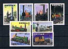 Bhutan 1984 Eisenbahn Mi.Nr. 852/59 Kpl. Satz ** - Bhoutan