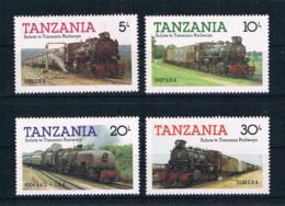Tansania 1985 Eisenbahn Mi.Nr. 268/71 Kpl. Satz ** - Tansania (1964-...)